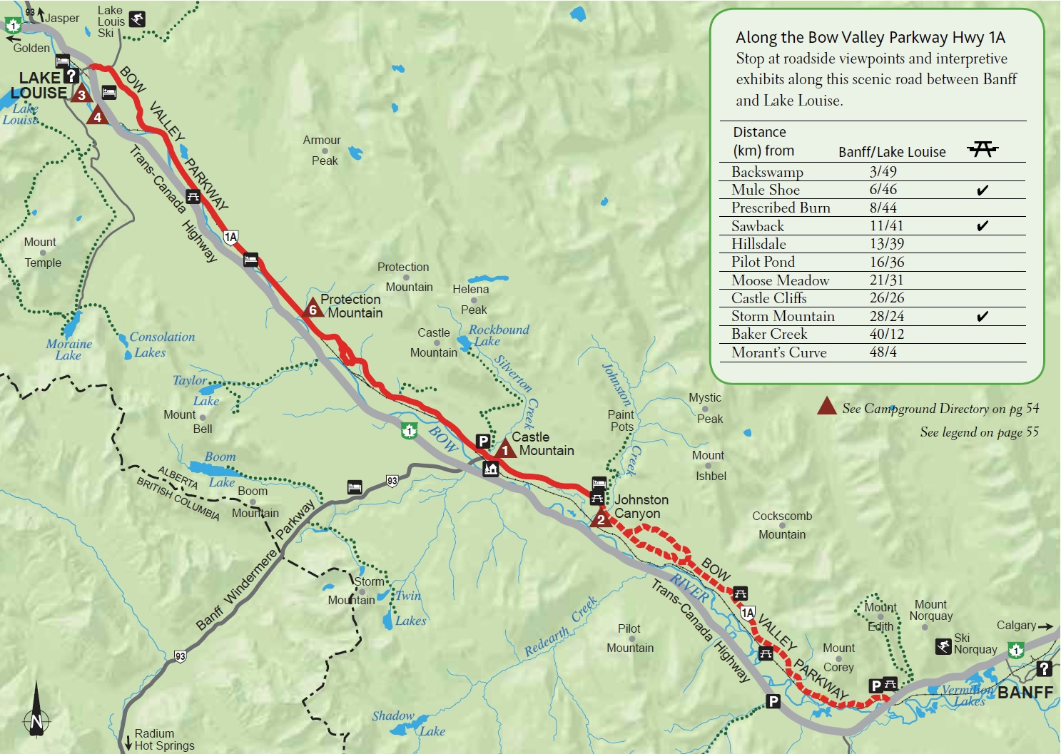 Experience Banff National Park ExperienceExperience - Map of banff and us