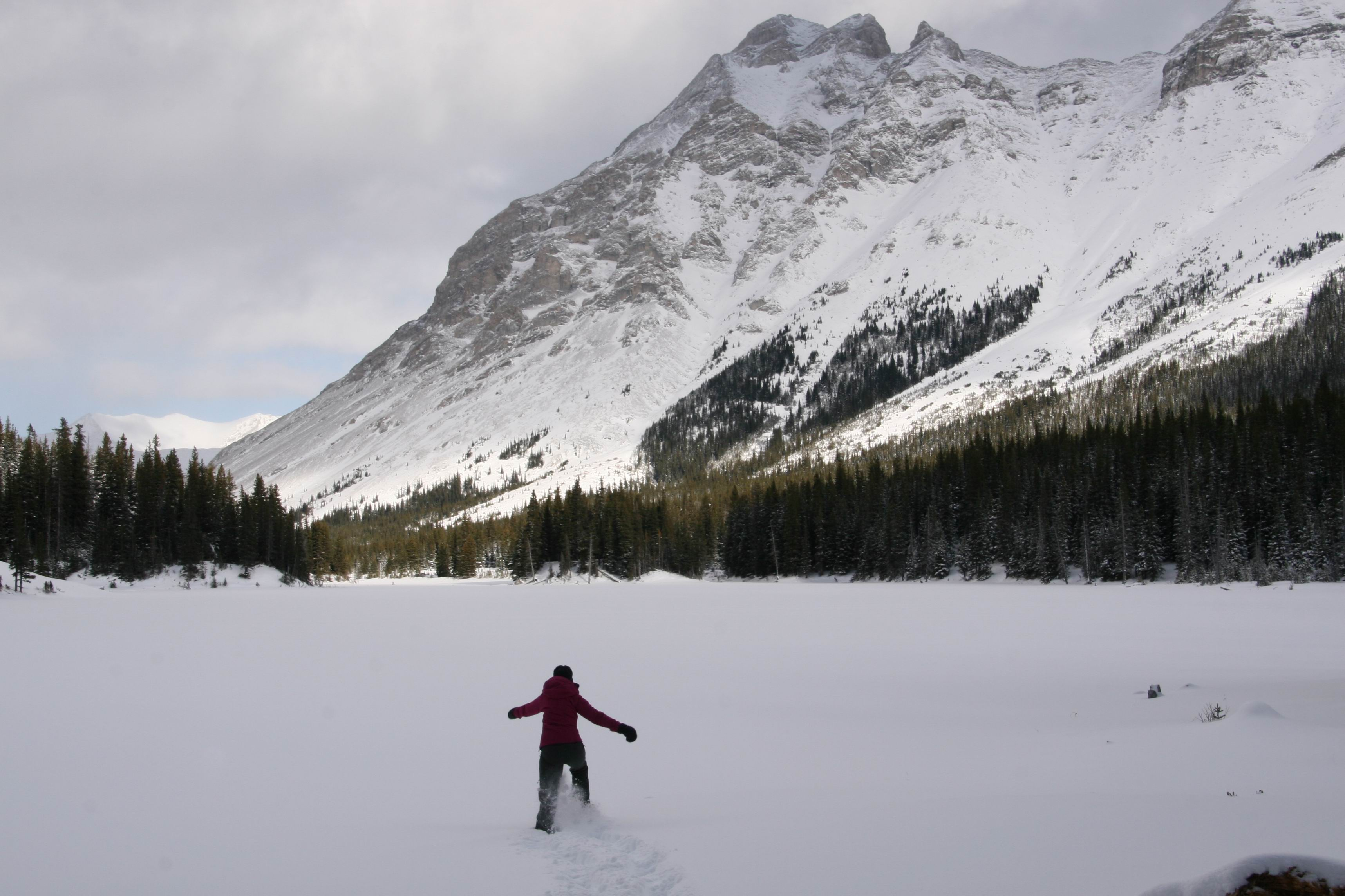 Snowshoeing to Elbow Lake