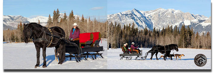 Rafter Six Ranch Resort wagon and sleigh rides