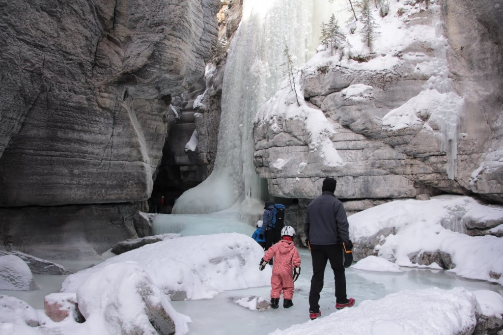 Hiking in Maligne Canyon with 40 Metre Tall Waterfalls