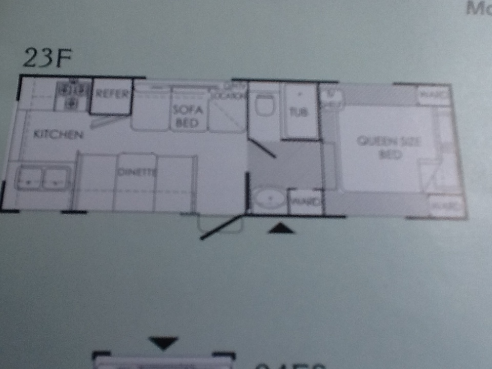 Trailer floor plan