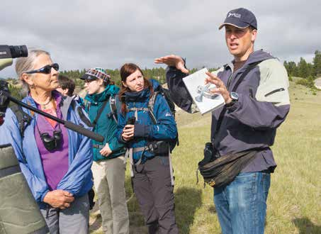 Cam Gillies leads a group on Wilmer wetlands2