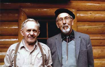 Lawrence Grassi and Tommy Link, who built many of the trails at Lake O'Hara. Courtesy of the Whyte Museum of the Canadian Rockies (V240-pa-686)