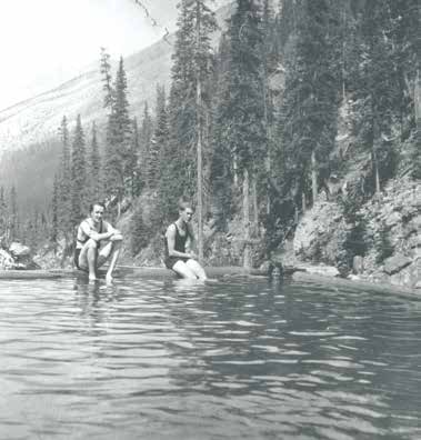 Bathers in the Miette Hot Springs Pool, Jasper National Park, Alberta, 1929 Photo Courtesy of Jasper-Yellowhead Museum & Archive - PA 39-57