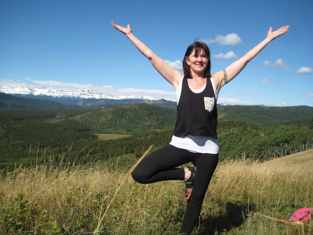 Sandy Pearson mountain yoga Sept 2014