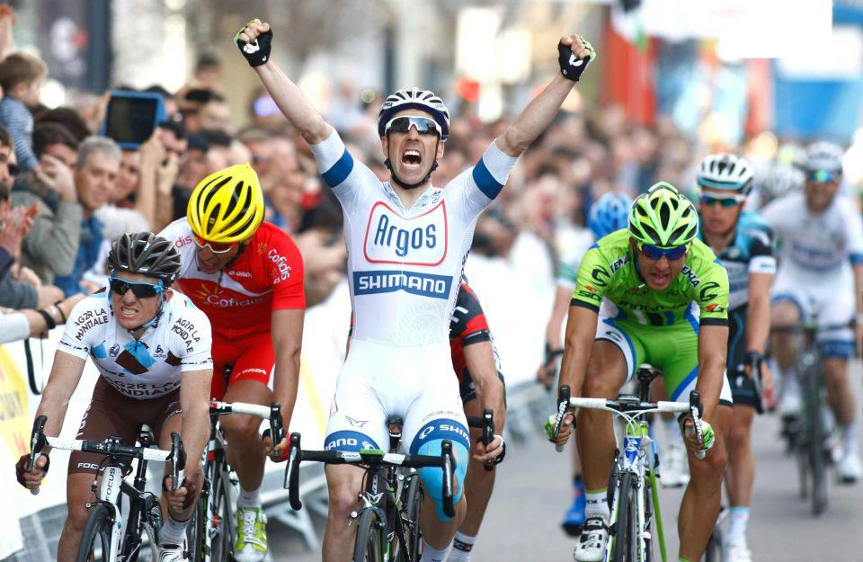 Francois Parisien won stage five of the Tour of Catalunya