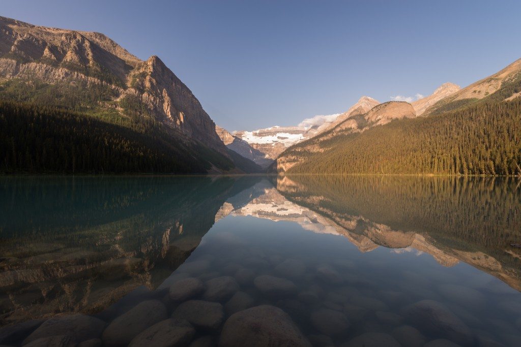 """First Light over Lake Louise"" - entry by Claude Robidoux"