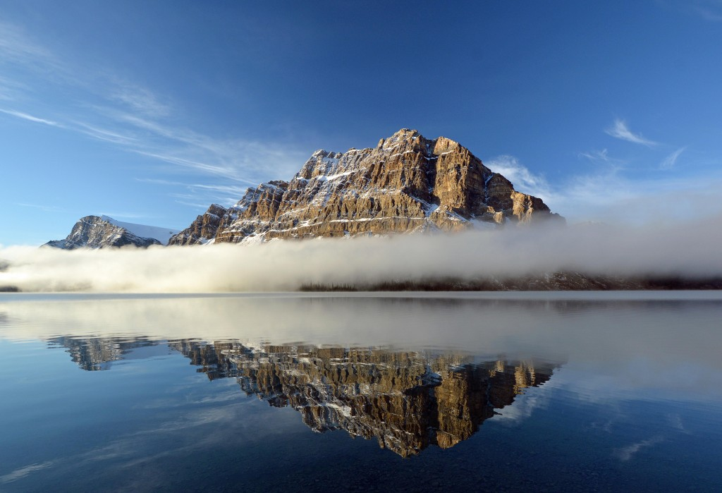 Rising above the Clouds at Bow Lake