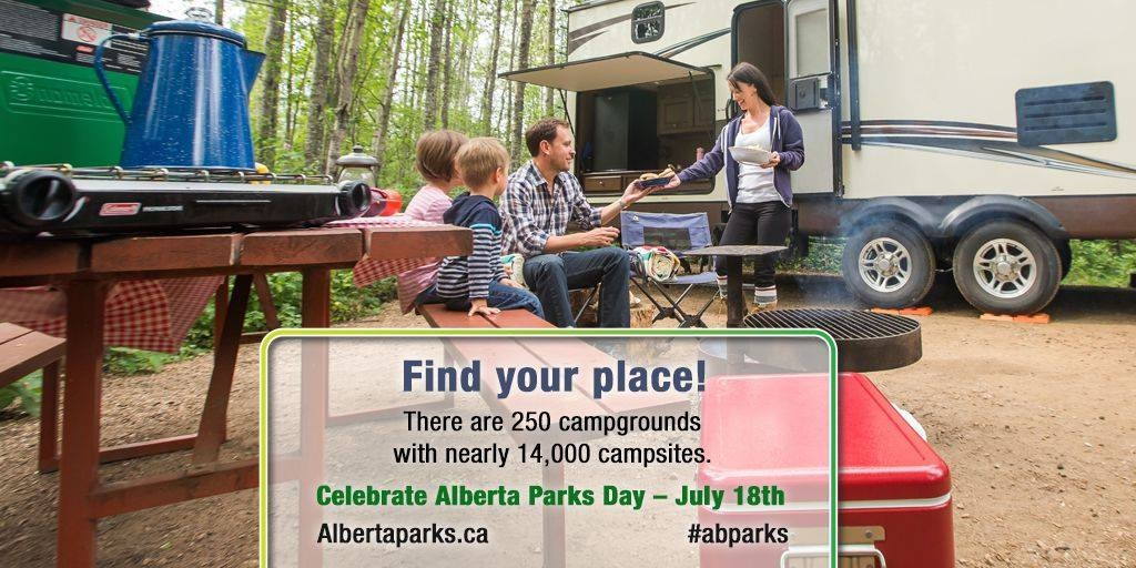 Parks Day - campground - courtesy Alberta Parks