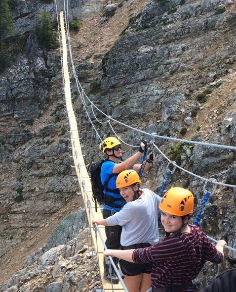 Via Ferrata suspension bridge