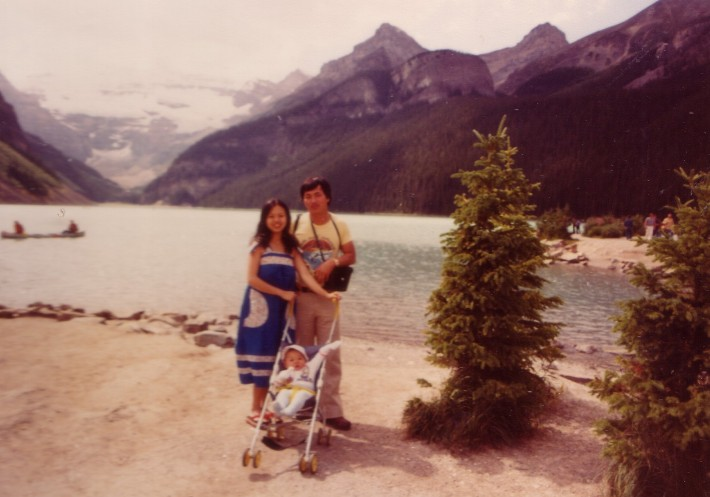 at banff national park in the 1980s