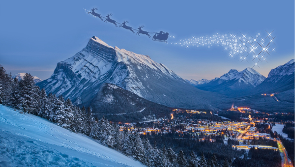 Christmas Parades into Banff 2015
