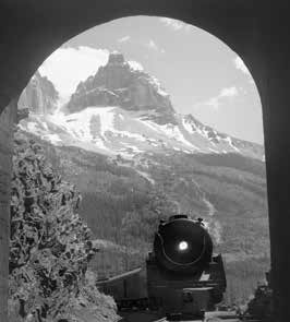 Locomotive Entering Tunnel - Courtesy of the Whyte Museum of the Canadian Rockies