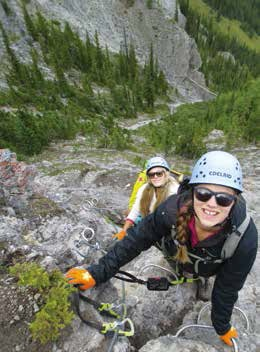Mount Norquay's Via Ferrata, Banff National Park Photo by Lynn Martel