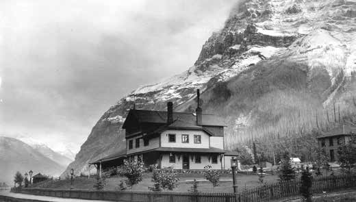 Mt. Stephen House and Mountain, Field, B.C. Image CVA 2-96 Courtesy of The City of Vancouver Archives