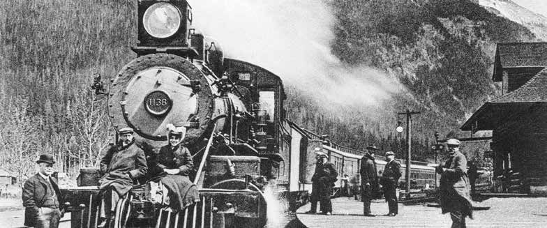 Locomotive and Train in Rocky Mountains, Field, British Columbia 1903-1905 Image NA-428-1 Courtesy of The Glenbow Museum