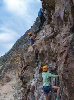 Via Ferrata at Kicking Horse, Golden BC Photo by Caitlin Percival