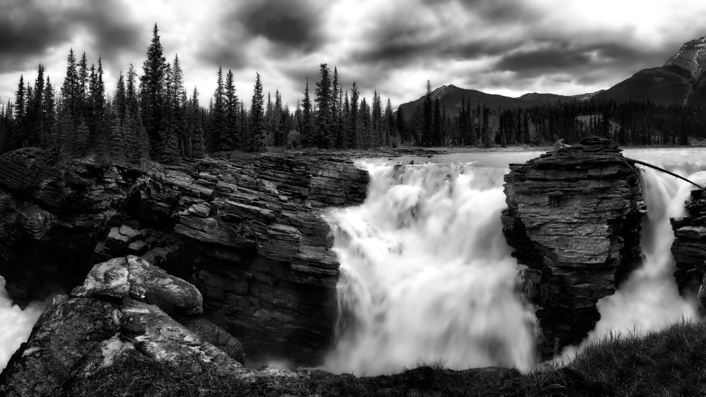 """Athabasca Falls"" by Moe Haimour"